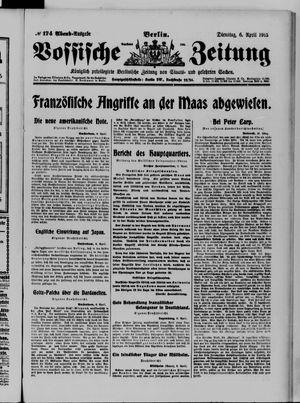 Vossische Zeitung vom 06.04.1915