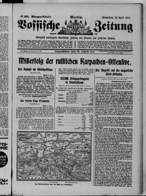 Vossische Zeitung vom 10.04.1915