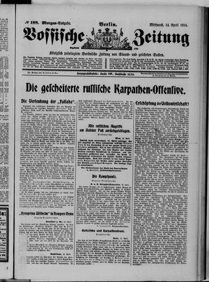 Vossische Zeitung vom 14.04.1915