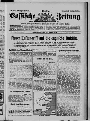 Vossische Zeitung vom 17.04.1915