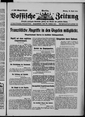 Vossische Zeitung vom 19.04.1915