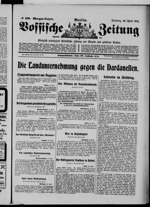 Vossische Zeitung vom 20.04.1915