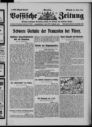 Vossische Zeitung vom 21.04.1915