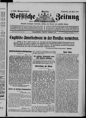 Vossische Zeitung vom 22.04.1915