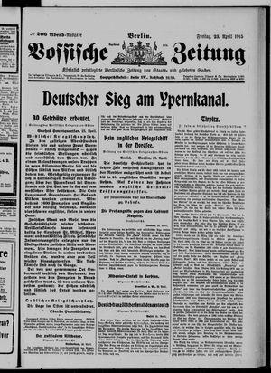 Vossische Zeitung vom 23.04.1915