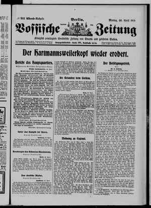 Vossische Zeitung vom 26.04.1915