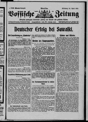 Vossische Zeitung vom 28.04.1915