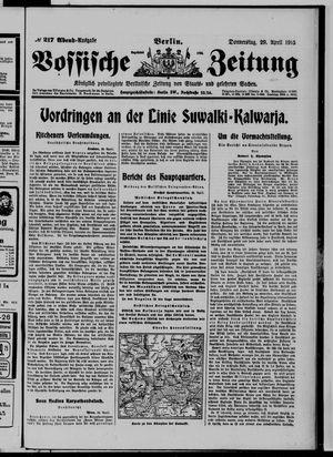 Vossische Zeitung vom 29.04.1915