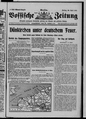 Vossische Zeitung vom 30.04.1915