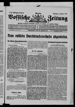 Vossische Zeitung on Jan 9, 1916