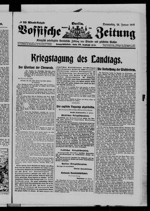 Vossische Zeitung vom 13.01.1916