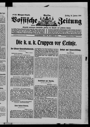 Vossische Zeitung vom 14.01.1916