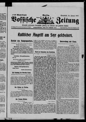 Vossische Zeitung vom 15.01.1916
