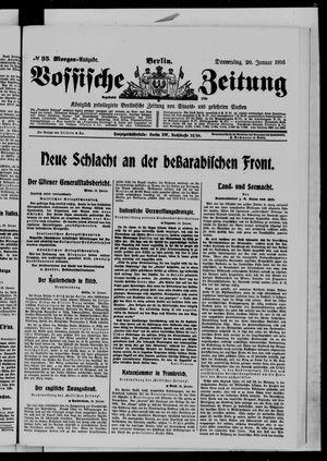 Vossische Zeitung vom 20.01.1916