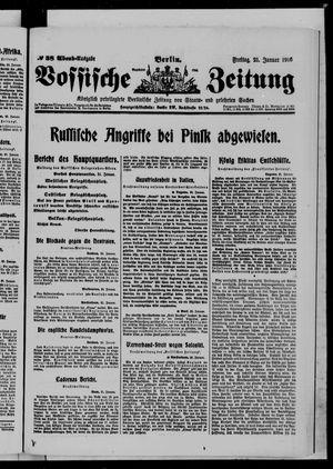 Vossische Zeitung on Jan 21, 1916