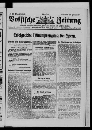 Vossische Zeitung vom 22.01.1916