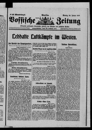 Vossische Zeitung vom 24.01.1916