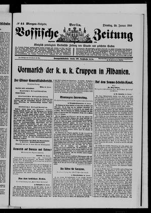 Vossische Zeitung vom 25.01.1916
