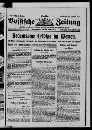 Vossische Zeitung on Jan 29, 1916