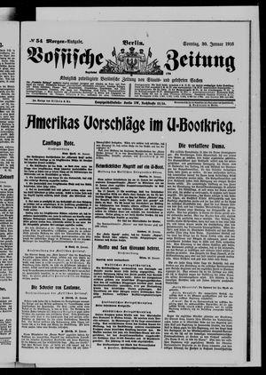 Vossische Zeitung vom 30.01.1916