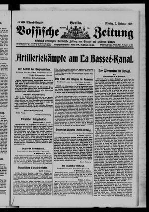 Vossische Zeitung vom 07.02.1916