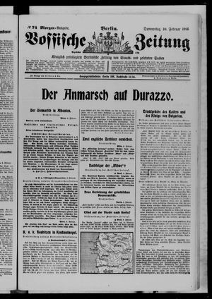 Vossische Zeitung vom 10.02.1916