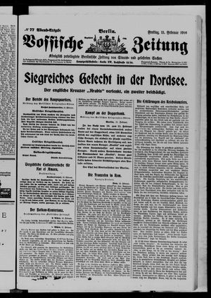 Vossische Zeitung vom 11.02.1916