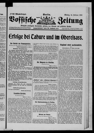 Vossische Zeitung vom 14.02.1916