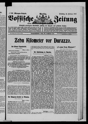Vossische Zeitung on Feb 15, 1916