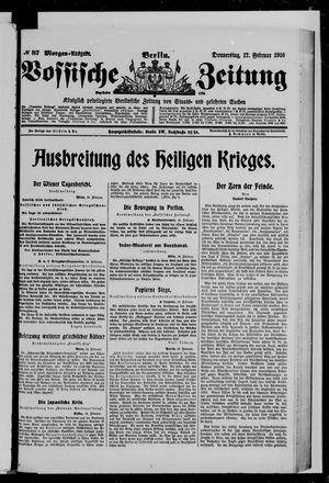 Vossische Zeitung vom 17.02.1916