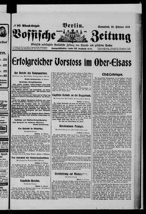 Vossische Zeitung vom 19.02.1916