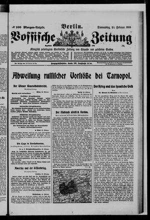 Vossische Zeitung vom 24.02.1916