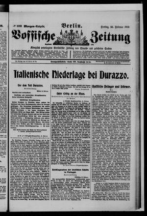 Vossische Zeitung vom 25.02.1916