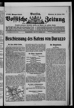Vossische Zeitung vom 26.02.1916