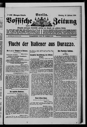 Vossische Zeitung vom 27.02.1916