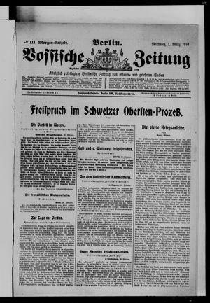 Vossische Zeitung vom 01.03.1916