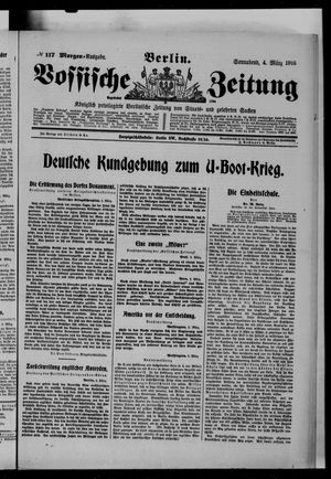 Vossische Zeitung vom 04.03.1916
