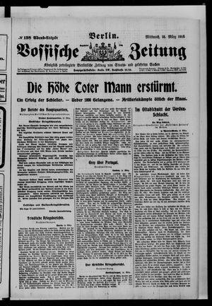 Vossische Zeitung vom 15.03.1916