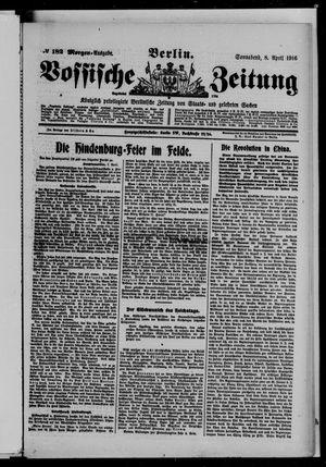 Vossische Zeitung vom 08.04.1916