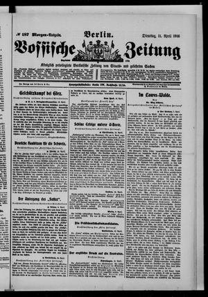 Vossische Zeitung vom 11.04.1916