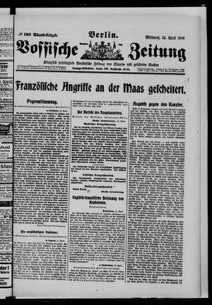Vossische Zeitung vom 12.04.1916