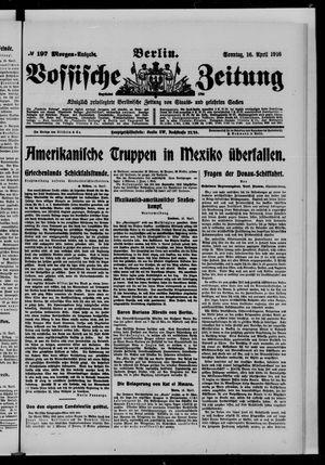 Vossische Zeitung vom 16.04.1916