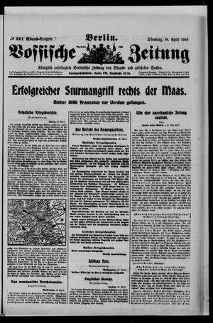 Vossische Zeitung on Apr 18, 1916