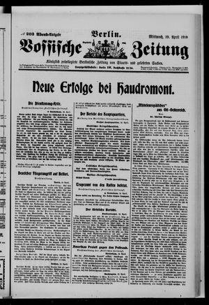 Vossische Zeitung vom 19.04.1916