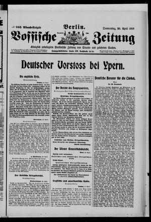 Vossische Zeitung vom 20.04.1916