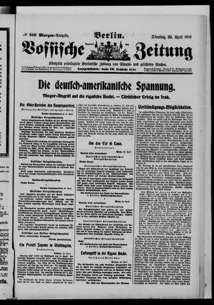 Vossische Zeitung vom 25.04.1916