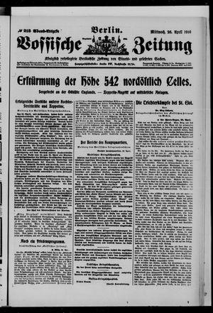 Vossische Zeitung vom 26.04.1916