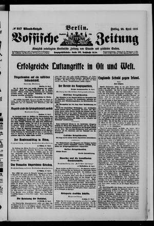 Vossische Zeitung vom 28.04.1916