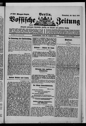 Vossische Zeitung on Apr 29, 1916