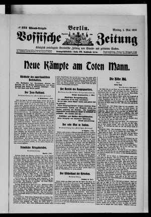 Vossische Zeitung vom 01.05.1916